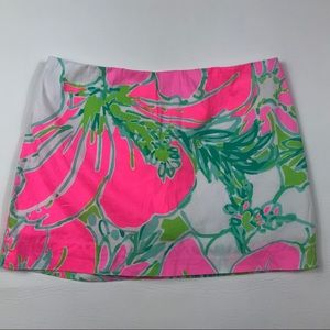 Lilly Pulitzer girls floral skort 12